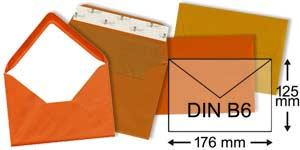 orange Briefumschläge im Format DIN B6