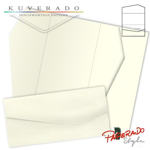 PAPERADO Style - Karte mit Einstecktasche in ivory beige