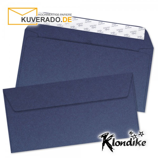 Artoz Klondike Briefumschlag in saphir-blau-metallic DIN C6/5