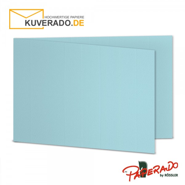Paperado Karten in aqua blau DIN B6 Querformat