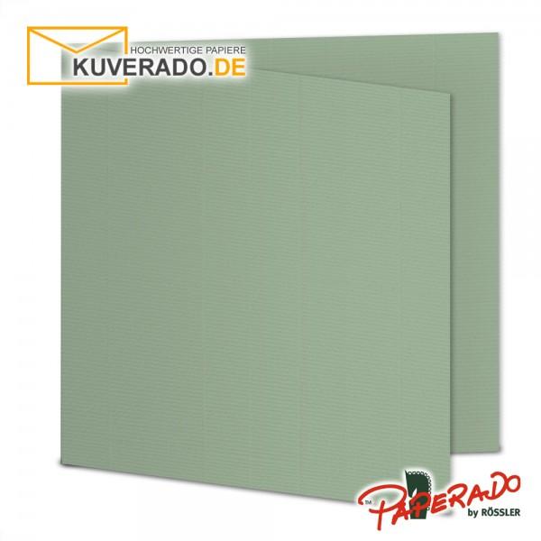 Paperado Faltkarten in eukalyptus quadratisch