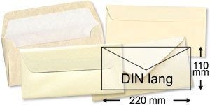110x220 mm (DIN lang)   beige