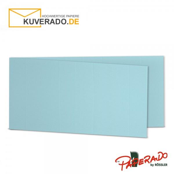 Paperado Karten in aqua blau DIN lang Querformat