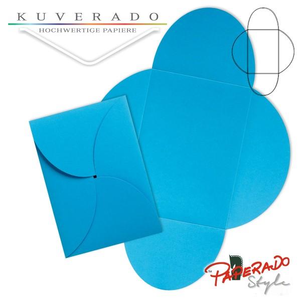 PAPERADO Style - Flügelkarte in pacificblau