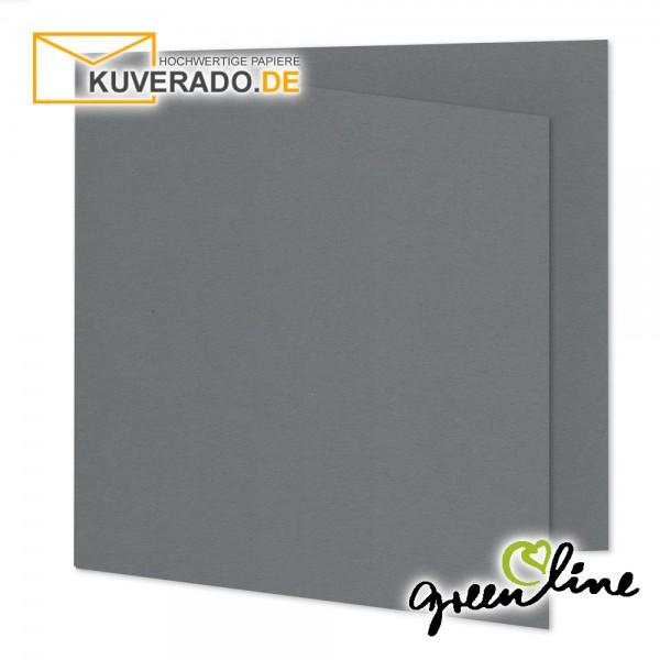 ARTOZ Greenline | Recycling Faltkarten in granit-grau quadratisch