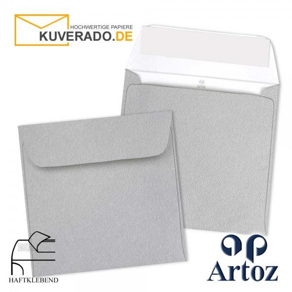 Artoz Mosaic metallic Briefumschläge in silber quadratisch