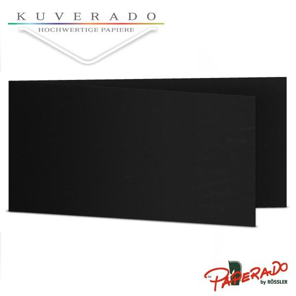 Paperado Karten in schwarz DIN lang Querformat