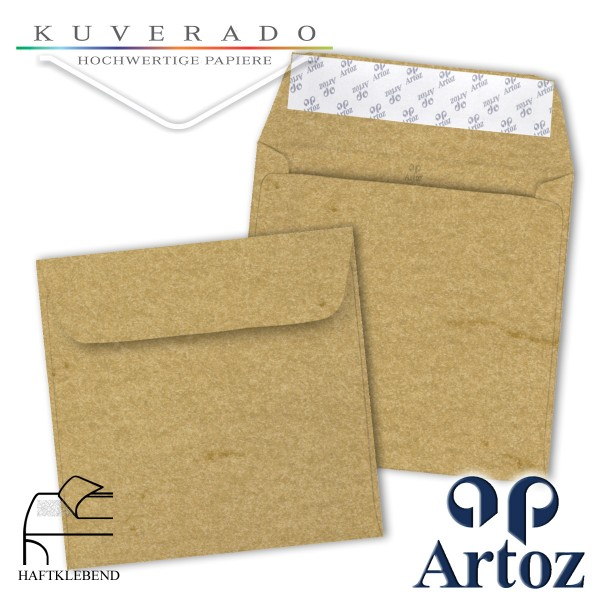 Artoz Rustik marmorierte Briefumschläge chamois quadratisch