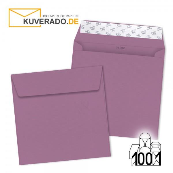 Artoz 1001 Briefumschläge holunder-lila quadratisch 160x160 mm