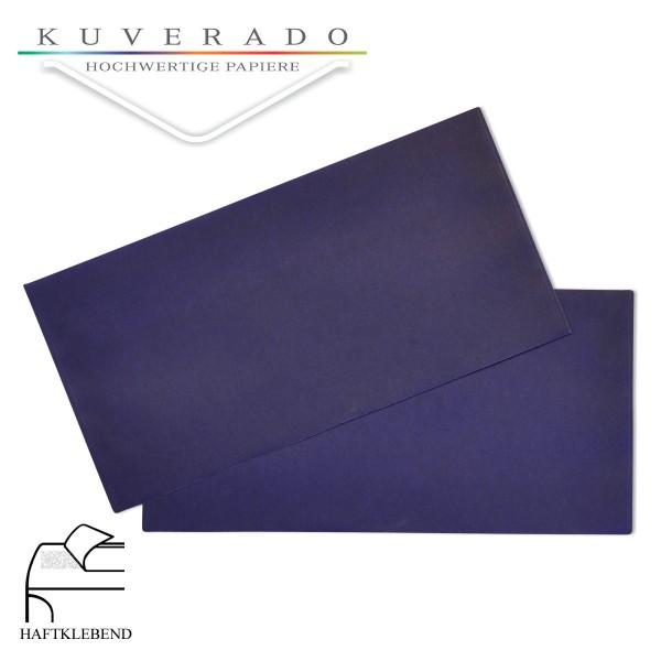 transparente Briefumschläge DIN lang in blau