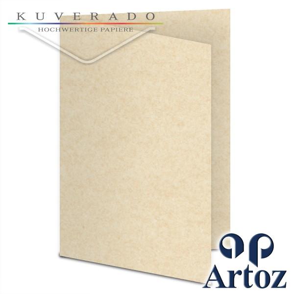 Artoz Rustik marmorierte Karten weiß DIN E6