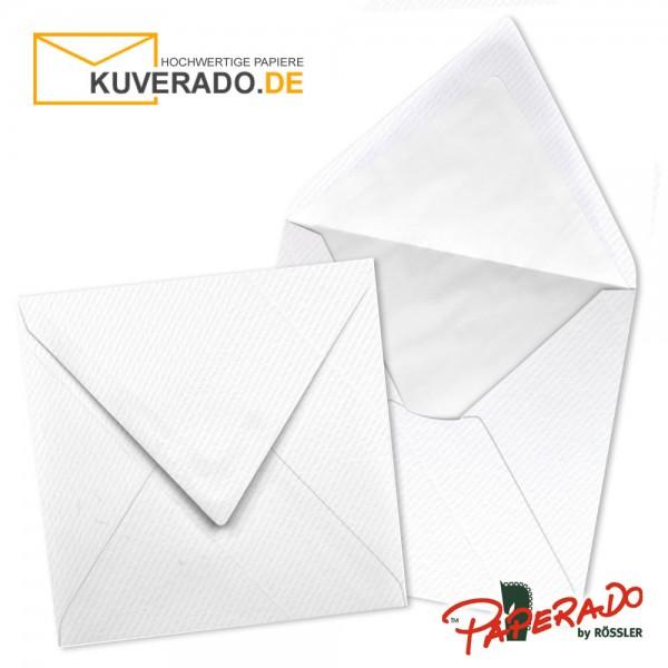 Paperado quadratische Briefumschläge in weiß 164x164 mm