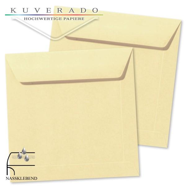 Beige Briefumschläge (Chamois) im Format quadratisch 190x190 mm
