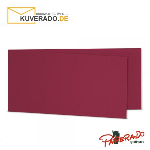 Paperado Karten in rosso rot DIN lang Querformat