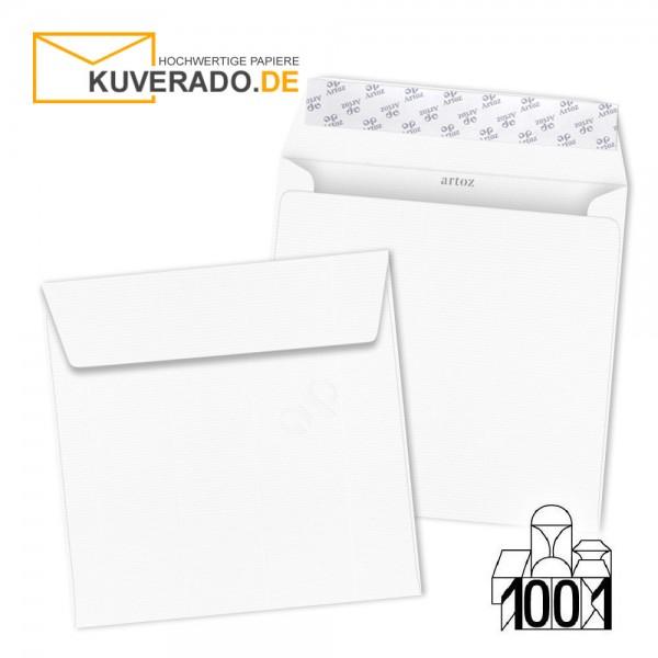 Artoz 1001 Briefumschläge Blütenweiß quadratisch 160x160 mm