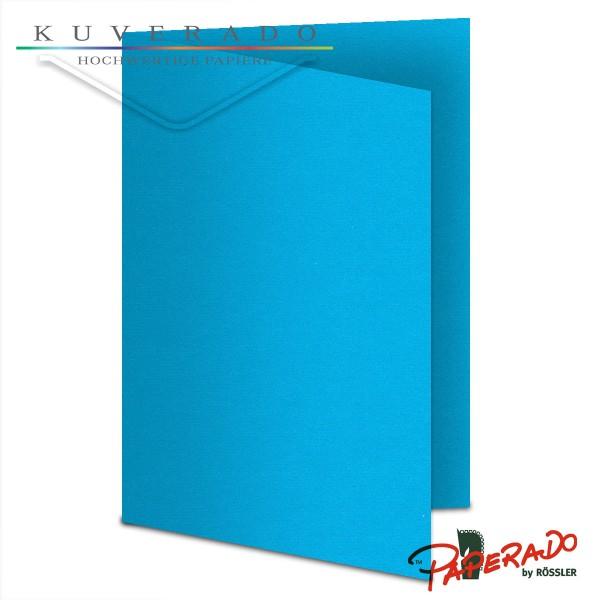 Paperado Karten in pacifik blau DIN A6