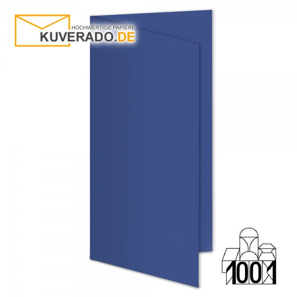 Artoz 1001 Faltkarten royalblau DIN lang Hochformat mit Wasserzeichen