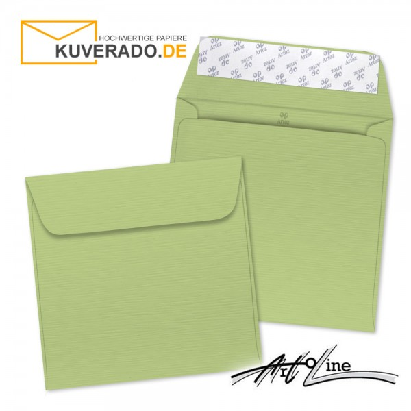 Artoz Artoline Briefumschlag in pistache-grün quadratisch
