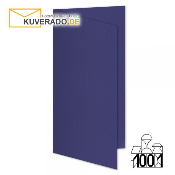 Artoz 1001 Faltkarten indigoblau DIN lang Hochformat mit Wasserzeichen
