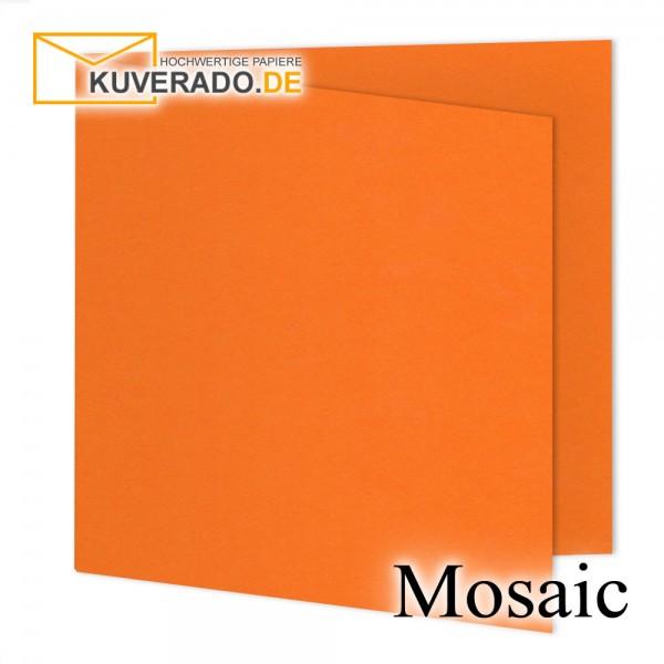 Artoz Mosaic neon-orange Doppelkarten quadratisch