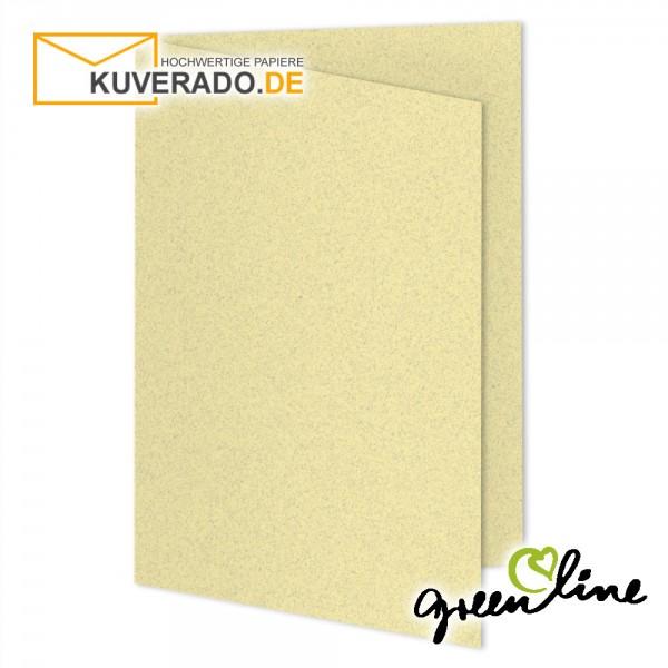 ARTOZ Greenline pastell   Recycling Faltkarten in misty-yellow DIN A6