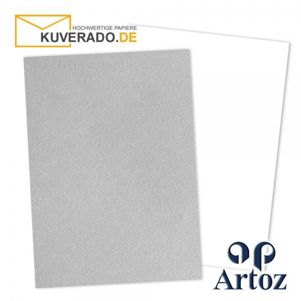 Artoz Mosaic metallic Briefkarton in silber DIN A4