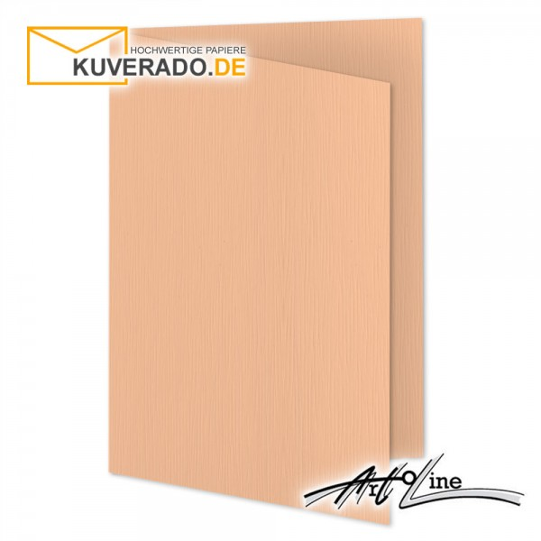 Artoz Artoline Karten/Doppelkarten in salm-rosa DIN A6