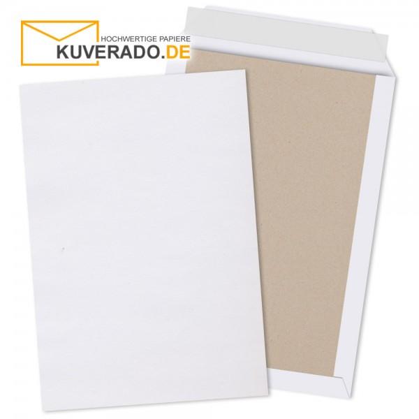 Weiße Papprückwandtaschen im Format DIN B4 haftklebend