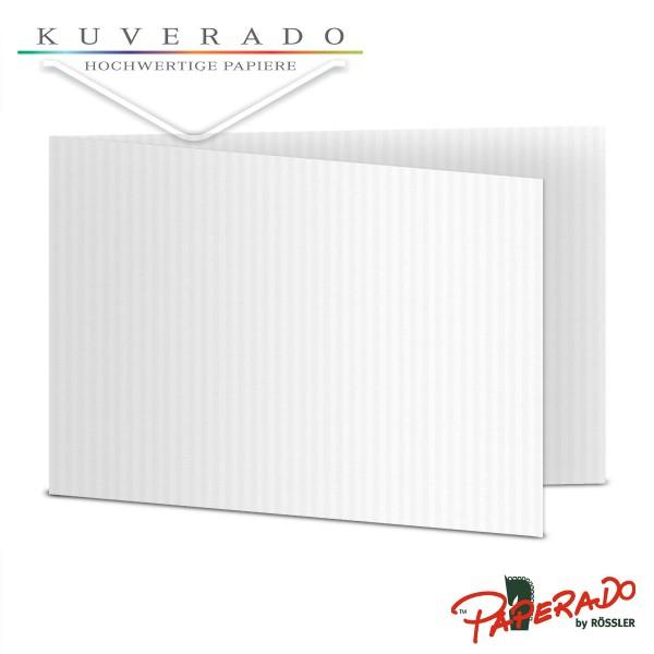Paperado Karten in classic-rib weiß DIN B6 Querformat
