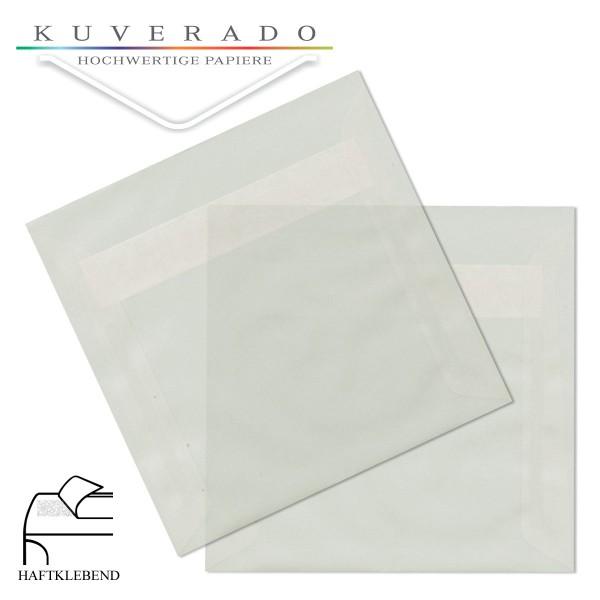 transparente Briefumschläge quadratisch in weiß