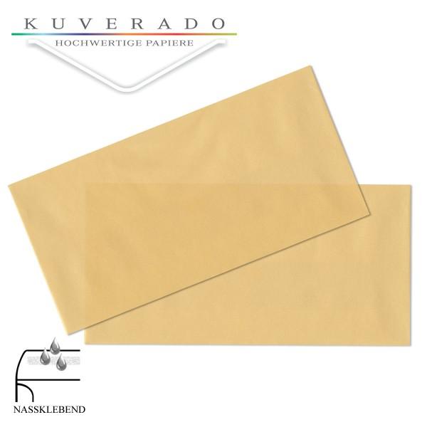 transparente Briefumschläge DIN lang in gold