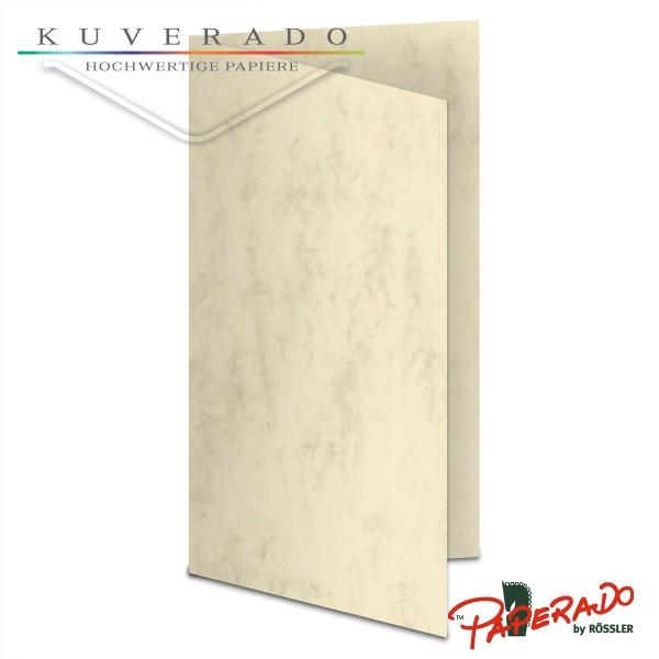 Paperado Karten in beige marmoriert DIN lang