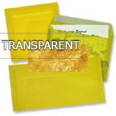 transparente Briefumschläge in gelb