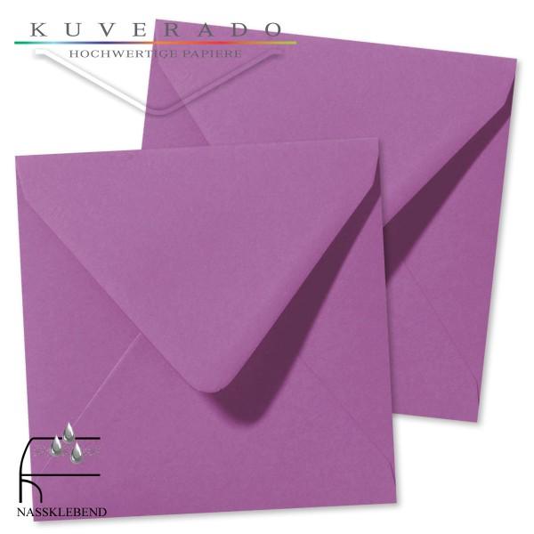 Lila Briefumschläge (violett) im Format quadratisch 160x160 mm