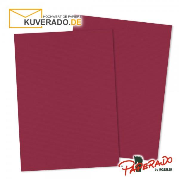 Paperado Briefkarton in rosso rot DIN A4 220 g/qm