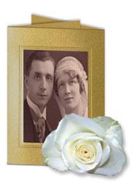 Einladungskarte zur goldenen Hochzeit