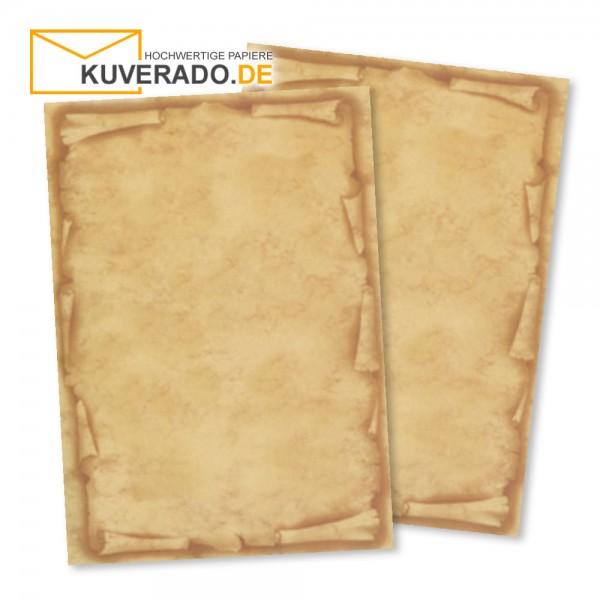 Urkundenblock DIN A4 mit Schriftrolle in beige