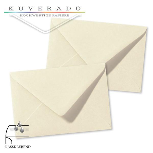 beige Briefumschläge in elfenbein im Format 120 x 180 mm genarbt