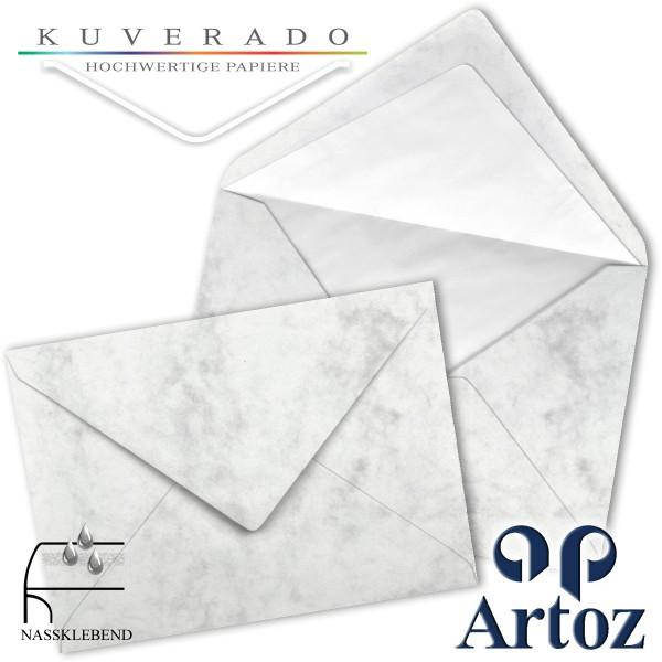 Artoz Antiqua marmorierte Briefumschläge grau DIN C5