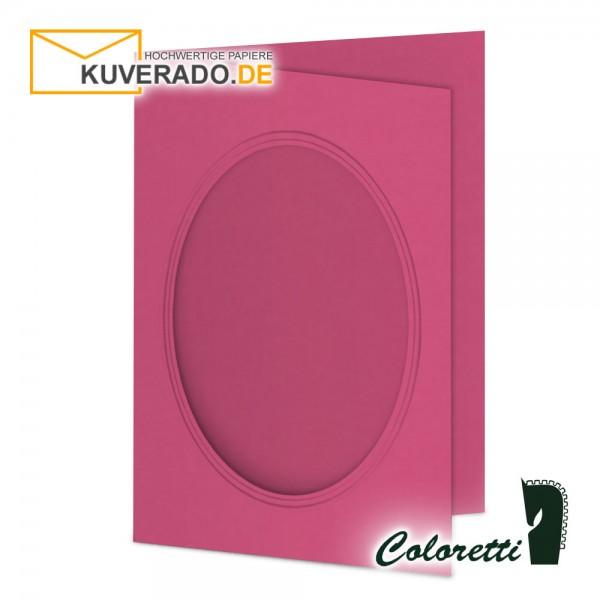 Rosa Passepartoutkarten in pink 220 g/qm von Coloretti