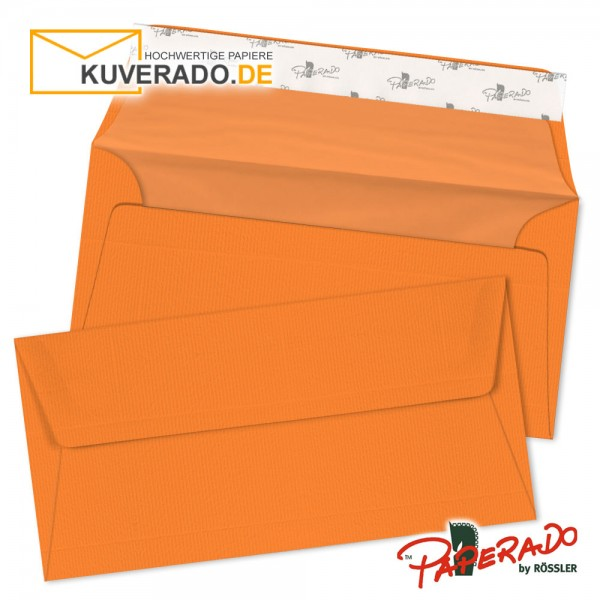 Paperado Briefumschläge orange DIN lang