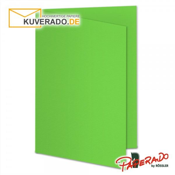 Paperado Karten in rapfelgrün DIN A5 Hochformat