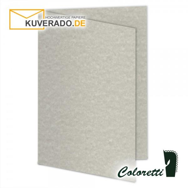 Wolkengrau marmorierte Doppelkarten in 220 g/qm von Coloretti