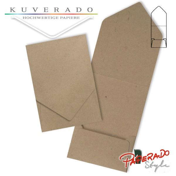 PAPERADO Style - Aufklappkarte aus braunem Kraftpapier