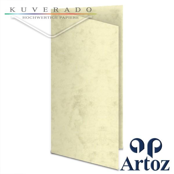Artoz Antiqua marmorierte Doppelkarten chamois DIN lang