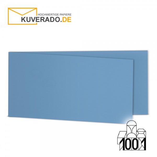 Artoz 1001 Faltkarten marienblau DIN lang Querformat mit Wasserzeichen
