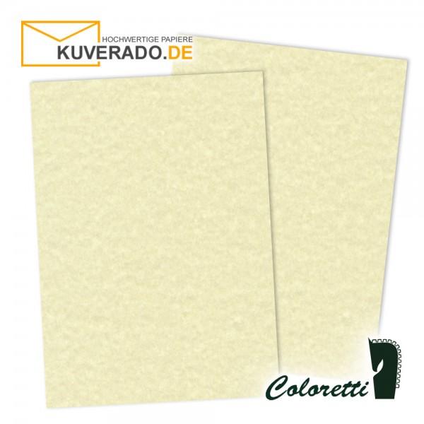 Beige marmoriertes Briefpapier in sandgelb 165 g/qm von Coloretti