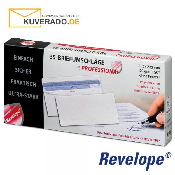 Revelope® DIN lang Briefumschläge haftklebend 90g/qm | 35 Stück