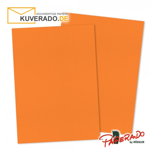 Paperado Briefpapier in orange DIN A4 160 g/qm