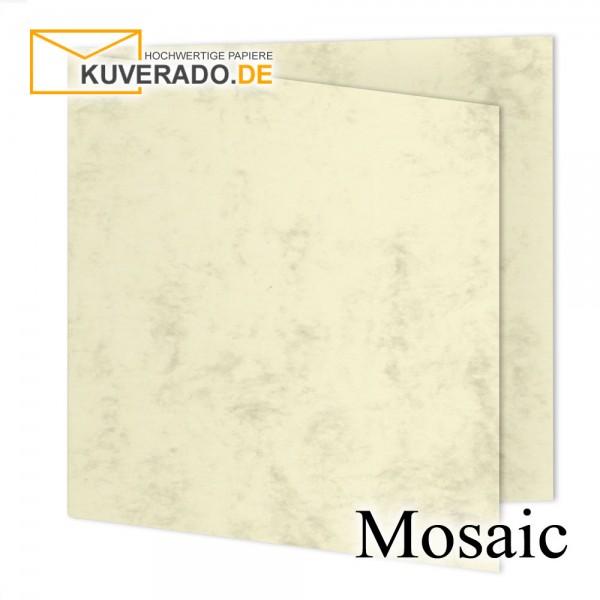 Artoz Mosaic marmorierte Faltkarten in gelb quadratisch